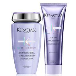 Kérastase Blond Absolu Bain Ultra-Violet 250ml & Cicaflash Conditioner 250ml Duo