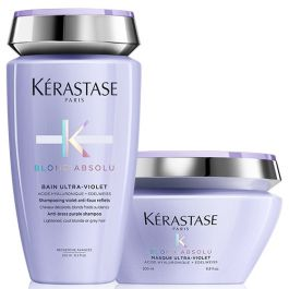 Kérastase Blond Absolu Bain Ultra-Violet 250ml & Masque Ultra-Violet 200ml Duo