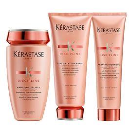Kérastase Discipline Bain Fluidealiste Smooth-in-Motion 250ml, Fondant 200ml & Keratin Thermique Thermo-Seal 150ml Pack