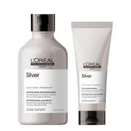 L'Oréal Professionnel Serie Expert Silver Shampoo 300ml and Conditioner 200ml Duo