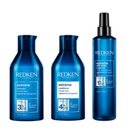 Redken Extreme Shampoo 300ml, Conditioner 300ml and Anti-Snap 250ml Pack