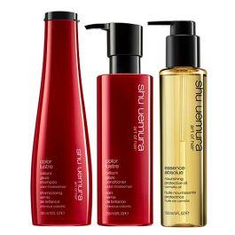 Shu Uemura Art of Hair Color Lustre Shampoo, Conditioner & Essence Absolue Oil Pack